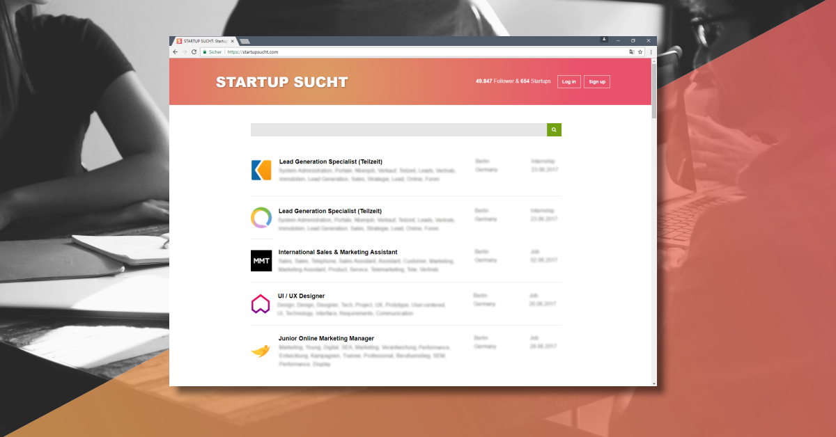 Ruby On Rails Backend Entwickler Unterfoehring Startup Jobs