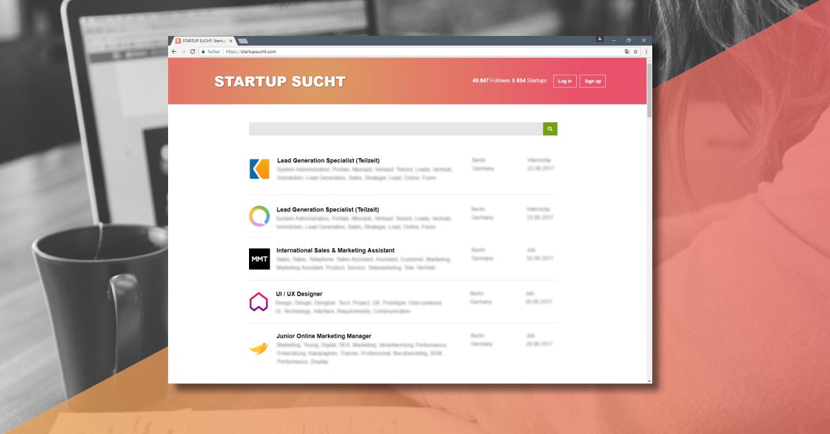 praktikum werkstudent design frankfurt startup internships
